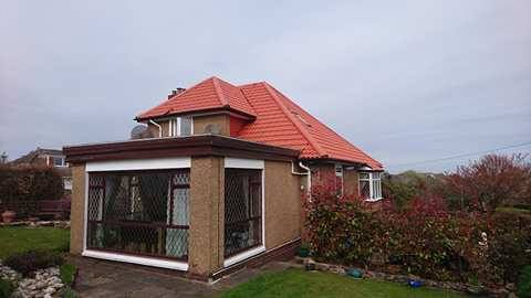 house and conservatory